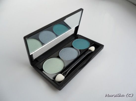 NYX Trio Eye Shadow TS23 Sweet Lagoon-Aqua-Ocean - Бирюзовое трио