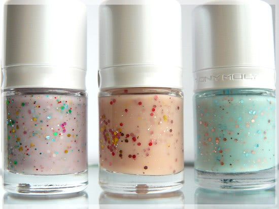 Лаки для ногтей Tony Moly: GS08 Milky Way, GS09 Shooting Star и GS10 Pinky Star