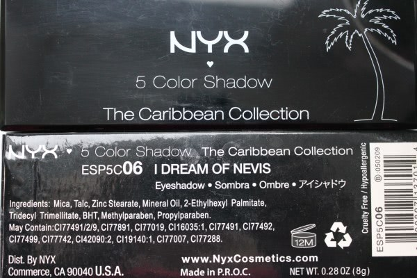 Nyx 5 Color Shadow The Caribbean Collection - I dream of Nevis
