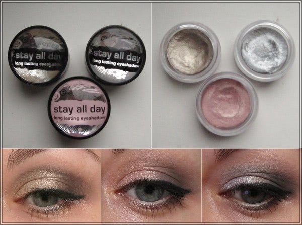 Блестящее трио от Essense – Stay All Day long lasting eye shadow #02, #04, #09