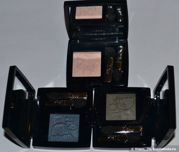 Dior Diorshow Mono Wet & Dry Backstage Eyeshadow №623 (Ribbon), № 386 (Blue Denim), №477 (Camouflage)