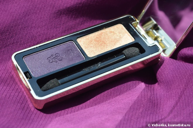 Все фиолетово с тенями Guerlain L'Ecrin Two Couleurs Colour Fusion Eyeshadow Vibrant Effects № 04Two Gossip