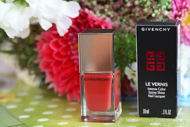 Givenchy Le Vernis Intense Color Satiny Shine Nail Lacquer #28 Rouge Acajou