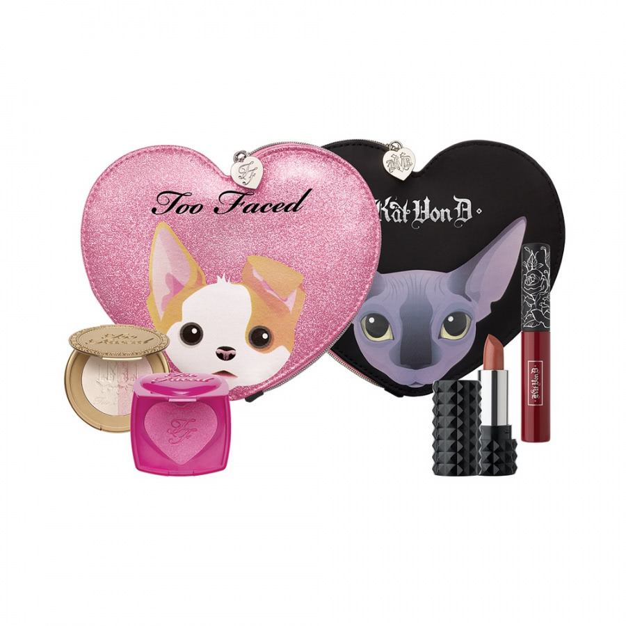 Too Faced x Kat Von D - Better Together Cheek & Lip Makeup Bag Set